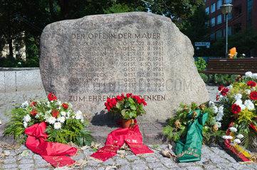 Berlin  Deutschland  Gedenkstein fuer die Maueropfer in der Bernauer Strasse
