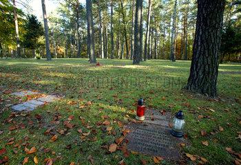 Halbe  Deutschland  Gedenktafeln auf dem Waldfriedhof