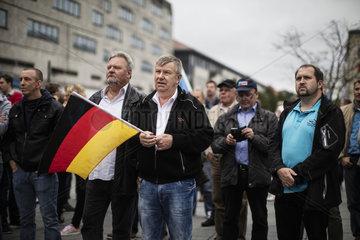Bjoern Hoecke campaigns in Mecklenburg Western Pomerania