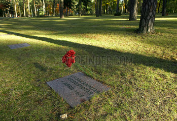 Halbe  Deutschland  Gedenktafel auf dem Waldfriedhof