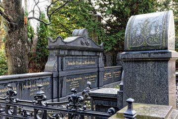 Berlin  Deutschland  Grabstaette der Familie des Bankiers Franz von Mendelssohn
