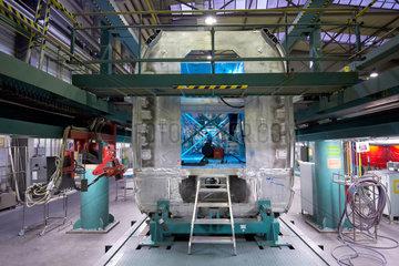 Krefeld  Deutschland  Wagenbau im Siemens Schienenfahrzeugwerk