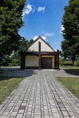 Welzow  Deutschland  die Friedhofskapelle auf dem Friedhof Proschim