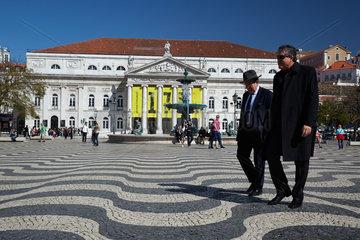 Lissabon  Portugal  das Nationaltheater im historischen Zentrum