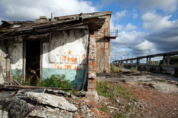 Virve  Estland  ehemaliger sowjetischer Marinehafen an der Harabucht