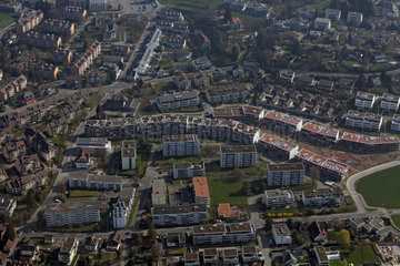 Beromuenster  Schweiz  Luftaufnahme der Stadt