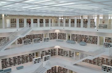 Stuttgart  Deutschland  die neue Bibliothek am Mailaender Platz