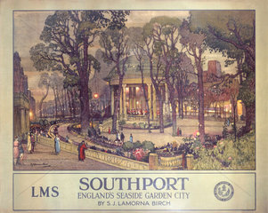 'Southport  England's Seaside Garden City'  LMS poster  1923-1947.