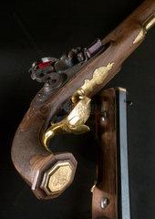 Pair of muzzle loading flintlock pistols. Russian  early 19th century.