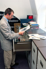 A staff member of the SSPL  Science Museum  London  8 January 1996.