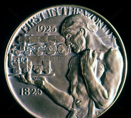 Medal with inscription 'First in the World