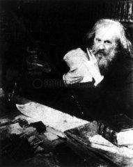 Dmitry Ivanovich Mendeleyev  Russian chemist  c 1900s.