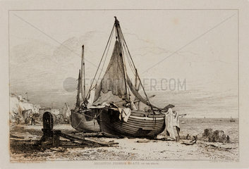 'Brighton Fishing Boats on the Beach'  1829.