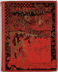Cover of Regamey's book on cycling  1898.