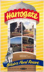 'Harrogate - Britain's Floral Resort'  BR poster  1961.