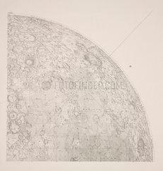 Southwest quadrant of Beer & Madler Moon map  1834.