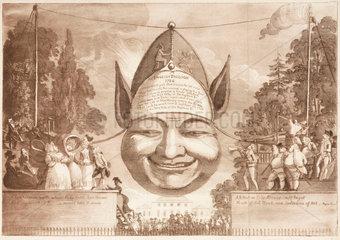 'An English Balloon'  1784.