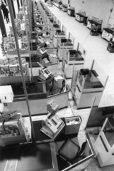 Check-outs at Tesco hypermarket  February 1976.