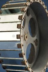 Mirror drum  c late 19th century.