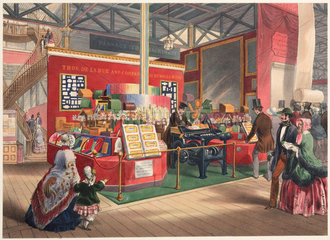 De la Rue's Stationery Stand and Envelope Machine  1851.