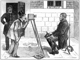 Taking photographs of prisoners  London  c