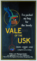 'Vale of the Usk'  LMS poster  1923-1947.