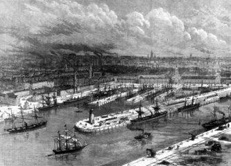 Manchester docks  1883.