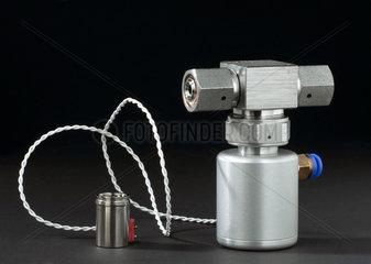 Miniaturised valve from Philae Rosetta comet lander  2003-2004.