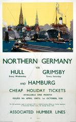 Northern Germany  LNER poster  1930s.