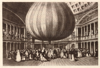 Captive balloon  late 18th century.