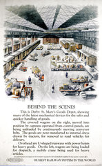 'Behind the scenes'  Railway Executive poster  1951.