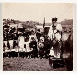 Beach entertainer  c 1905.