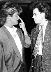 George Michael and Bob Geldof  1985.