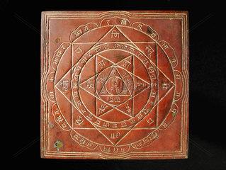 Yantra meditation plaque  India  c 1800s.