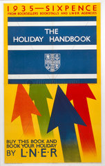 'The Holiday Handbook'  LNER poster  1935.