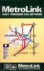 'Metrolink - West Yorkshire Rail Network'  BR poster  1977.