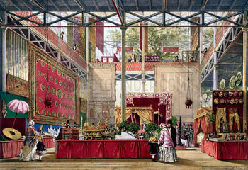 Indian No 5 stand at the Great Exhibition  Crystal Palace  1851.