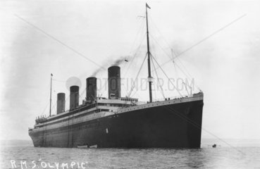 RMS 'Olympic'  c 1910.