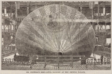 'Mr Coxwell's High-Level Balloon at the Crystal Palace'  1868.