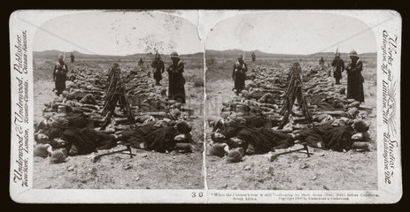 'When the Cannon's roar is still' soldiers sleeping  Colesberg  South Africa'  1900.