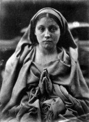 'St Agnes'  1864. Allegorical portrait of S