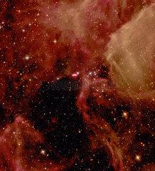 Supernova SN1987A in the Large Magellanic Cloud  1997.
