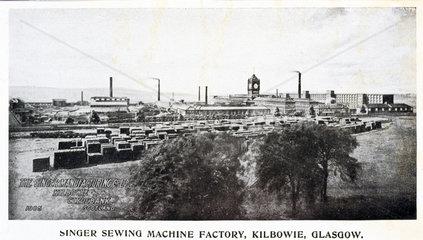 Singer Sewing Machine Factory  Kilbowie  Glasgow  1905.