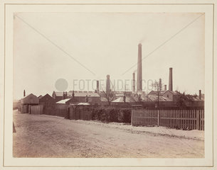The Perkin dyestuffs factory at Greenford Green  Middlesex  c 1870.