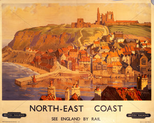 'North-East Coast'  BR poster  c 1950s.