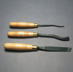 Tools for carving wood  c 1990s.