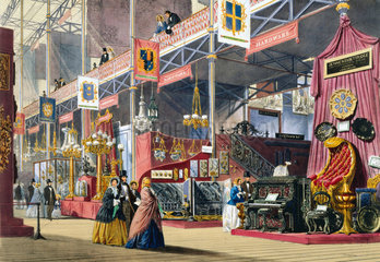 Hardware at the Great Exhibition  Crystal Palace  London  1851.
