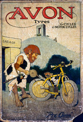 Avon tyres'  poster  c 1930s.