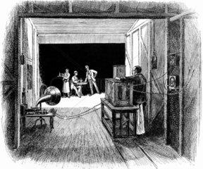 Edison's 'Black Maria' studios late 19th/ early 20th century.