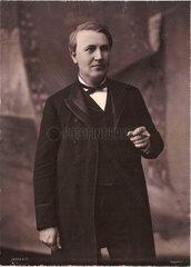 Thomas Alva Edison  American inventor  c 1890.